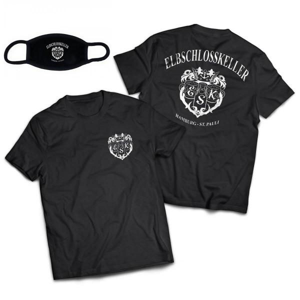 Elbschlosskeller - T-Shirt-Masken-Bundle [Herren]
