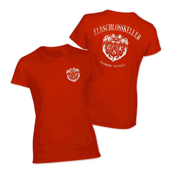 T-Shirt - Elbschlosskeller Girls [rot]