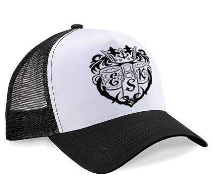 Elbschlosskeller - Snapback Cap mit Mesh und Logo [weiß/schwarz]